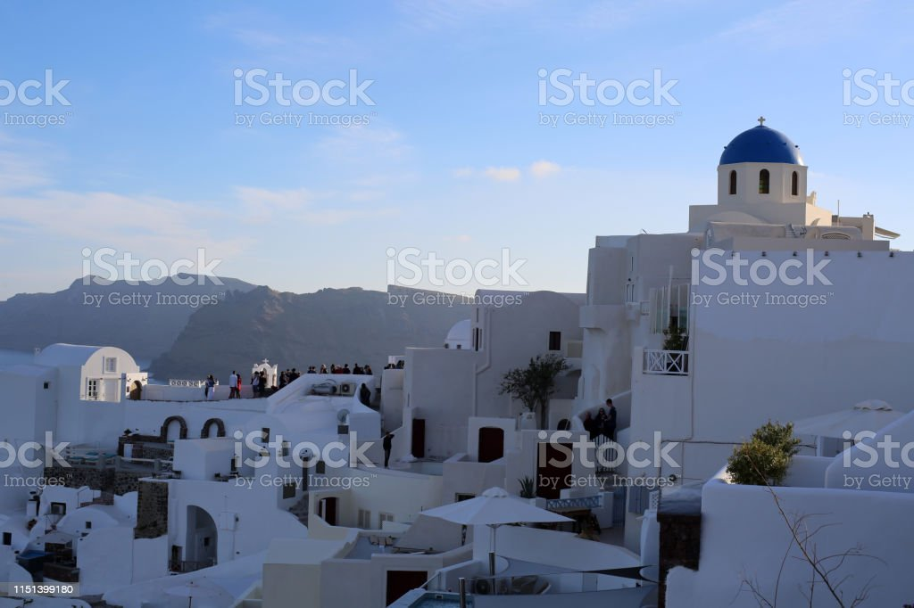 White architecture on Santorini island. Santorini Islan/Greece