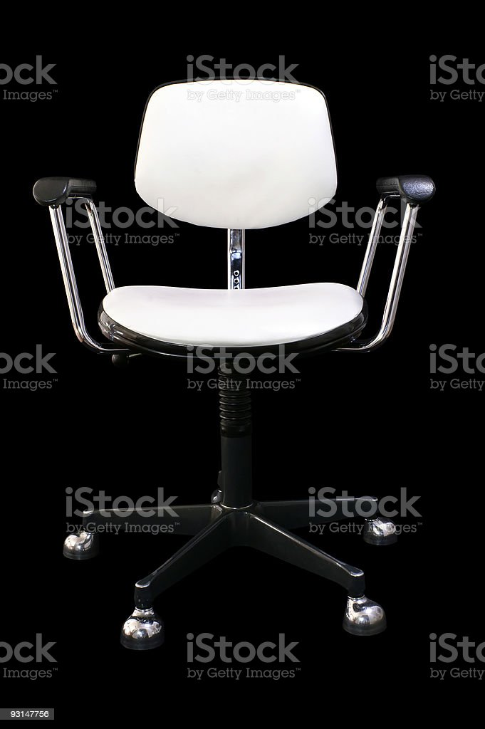 White Armchair on black Background royalty-free stock photo