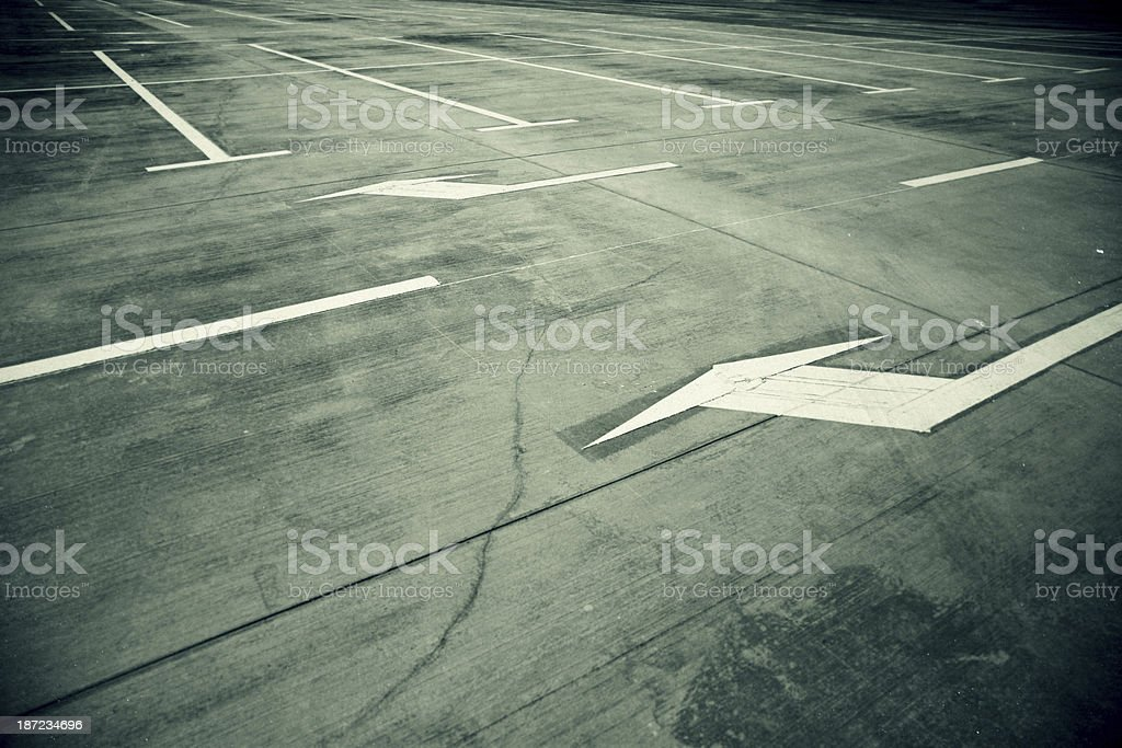 White arrow in the street royalty-free stock photo