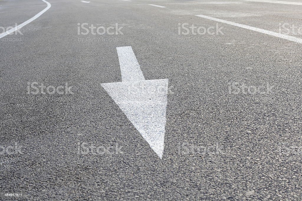 White Arrow royalty-free stock photo
