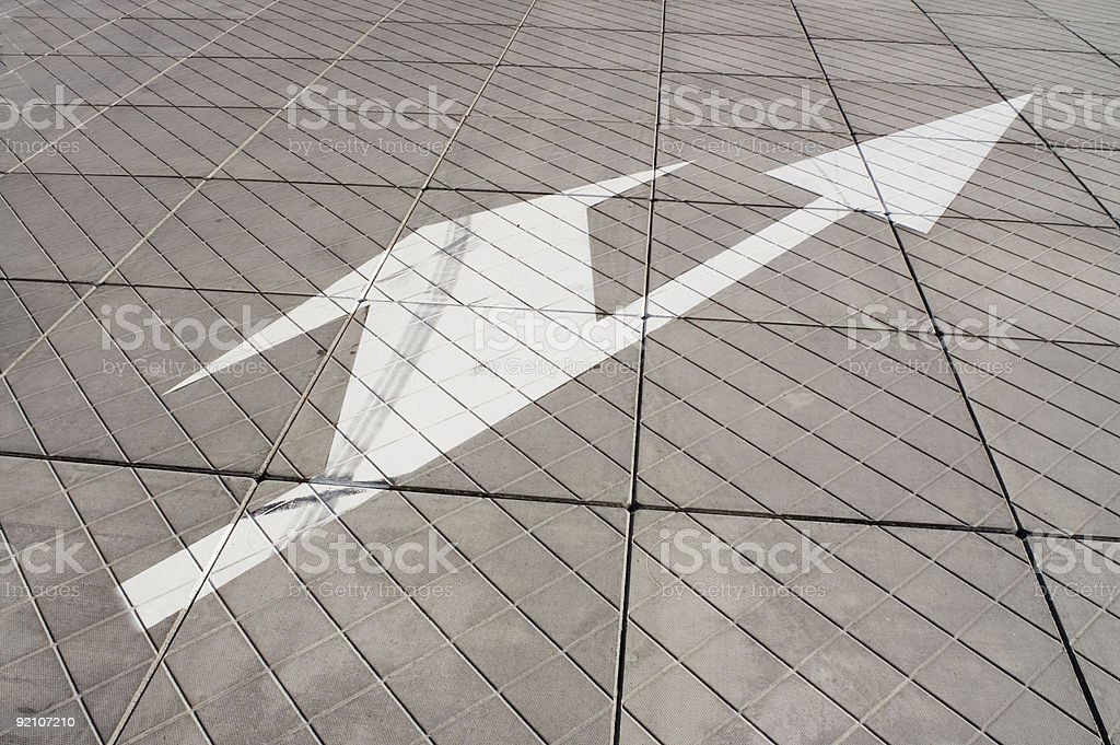 White arrow royalty-free stock photo