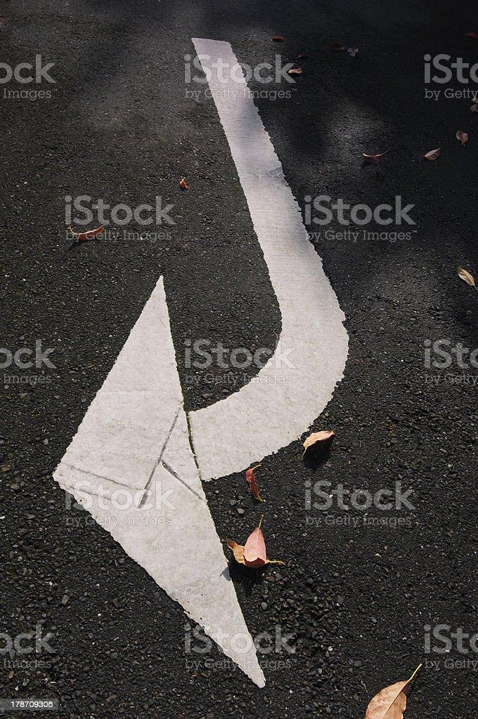white arrow sign royalty-free stock photo