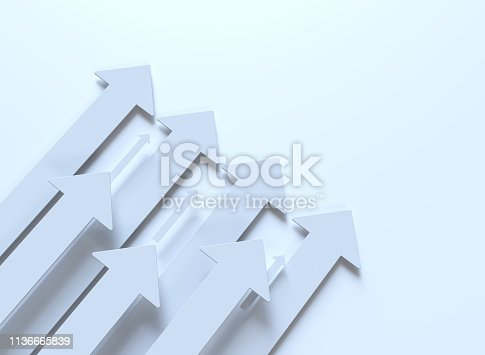 istock white arrows isolated on white 1136665839