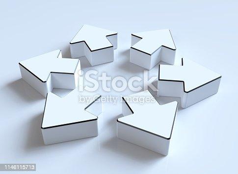 118386322istockphoto white arrows 1146115713