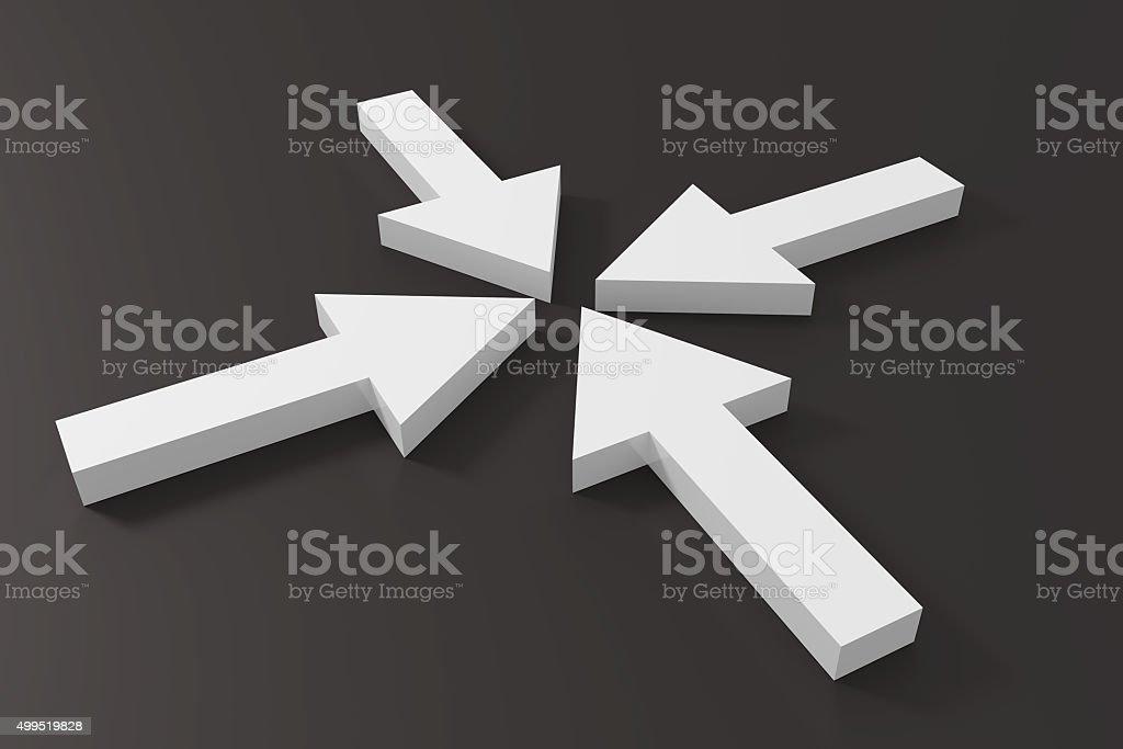 White arrows stock photo
