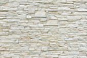 White Artificial Stone Wall