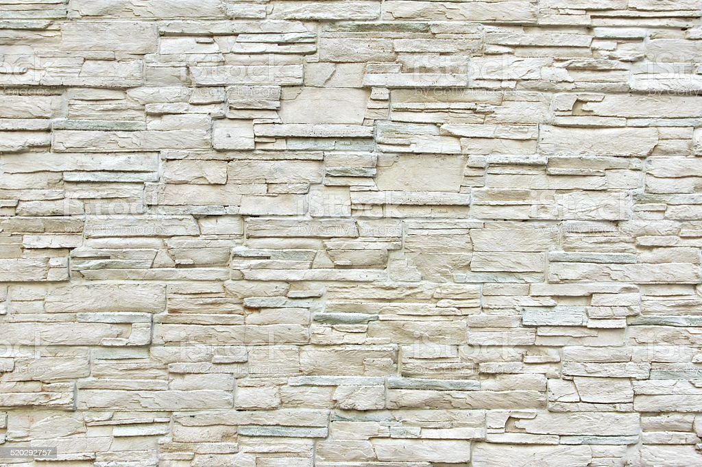 White Artificial Stone Wall stock photo