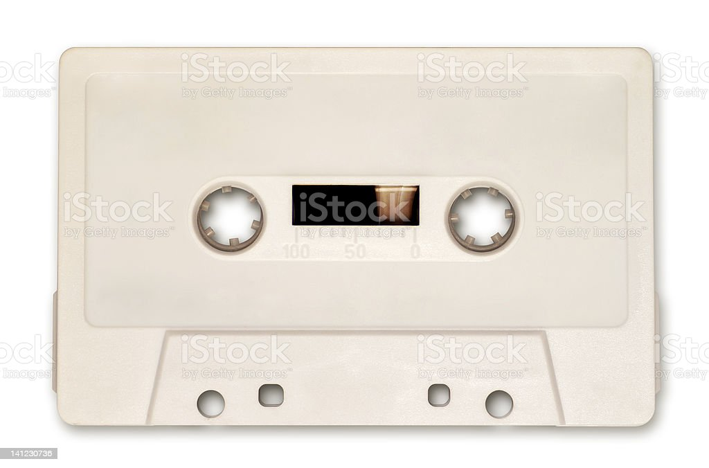 White audio cassette royalty-free stock photo