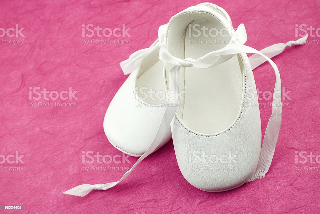 White Baby Shoes royalty free stockfoto