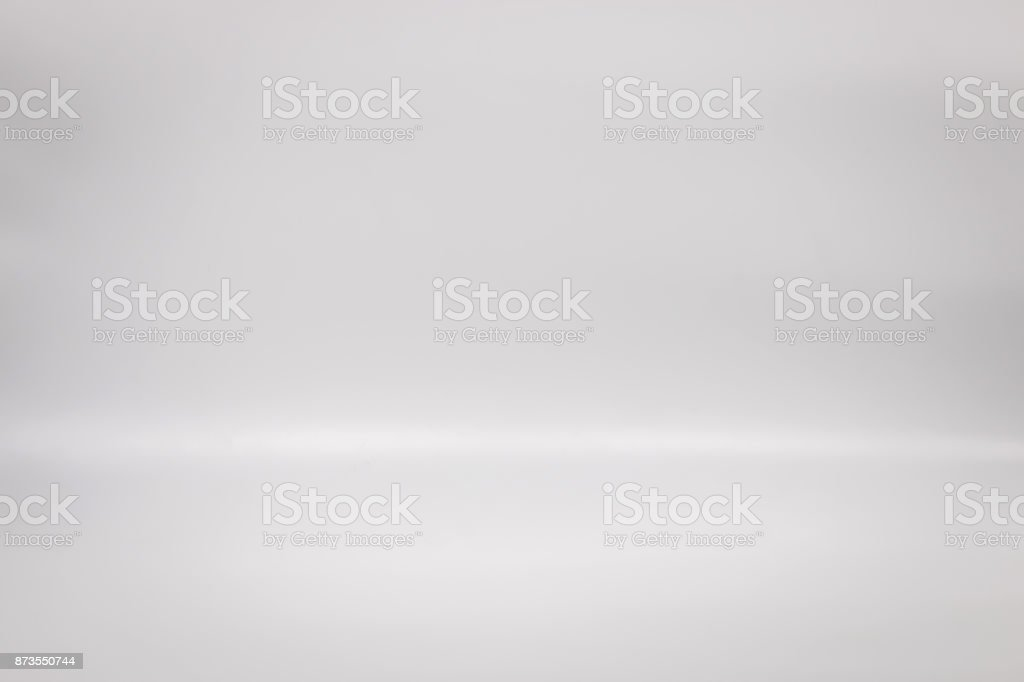 White backdrop for your product. Studio floor background. Blank...
