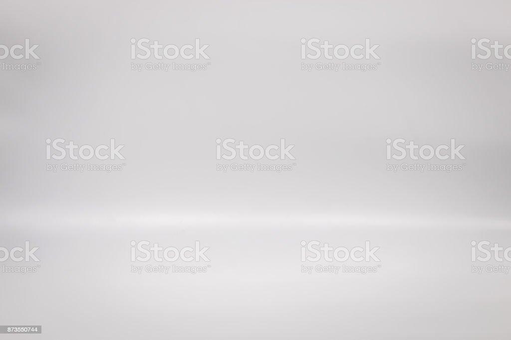 Weißen Hintergrund für Ihr Produkt. Studio-Stock-Hintergrund. Leere graue Innenszene. – Foto