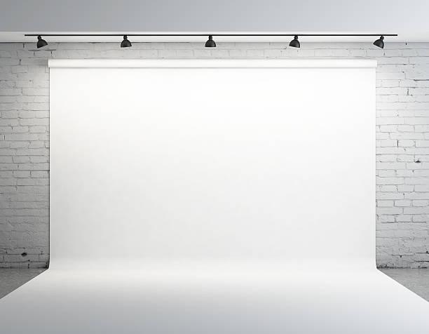 White backdrop stock photo