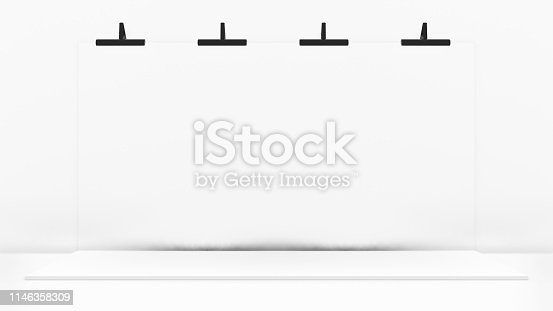 1089180420istockphoto White Backdrop Stage in Room 1146358309