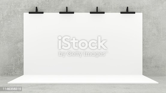 1089180420istockphoto White Backdrop Stage in Room 1146358315