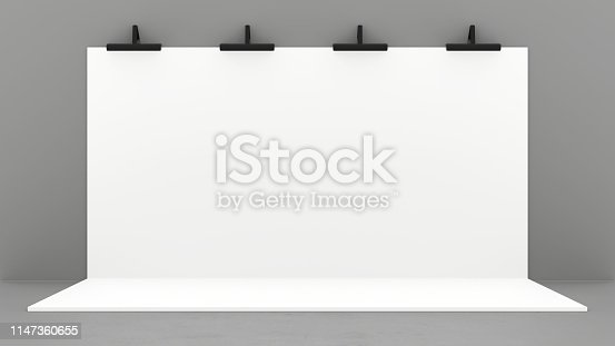 1089180420istockphoto White Backdrop Stage in Room 1147360655