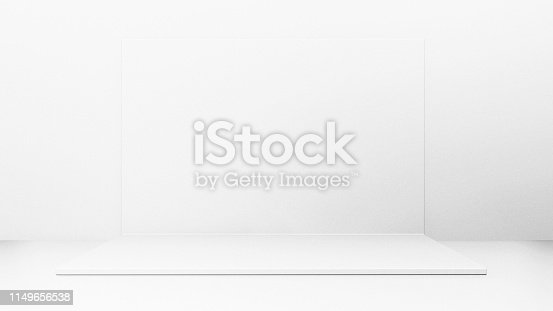 1089180420istockphoto White Backdrop Stage in Room 1149656538