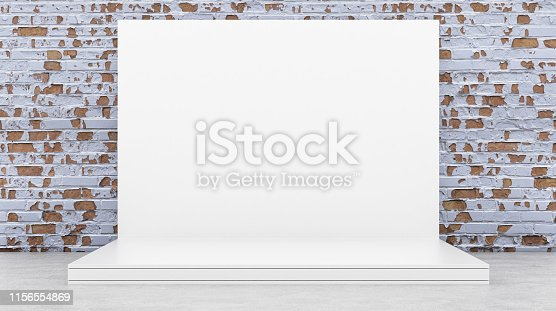 1089180420istockphoto White Backdrop Stage in Room 1156554869