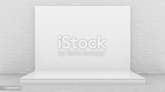 1089180420istockphoto White Backdrop Stage in Room 1156554870