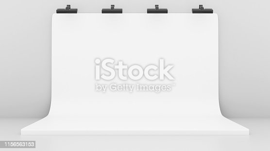 1089180420istockphoto White Backdrop Stage in Room 1156563153