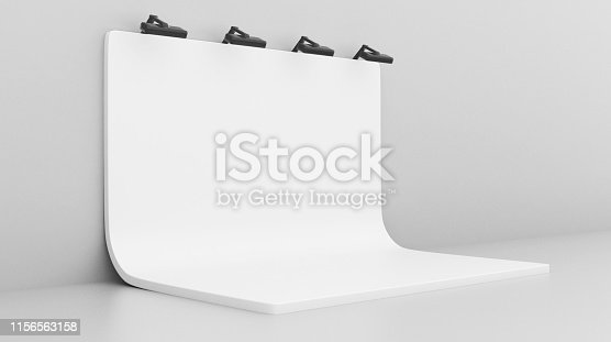 1089180420istockphoto White Backdrop Stage in Room 1156563158