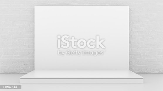1089180420istockphoto White Backdrop Stage in Room 1156781411