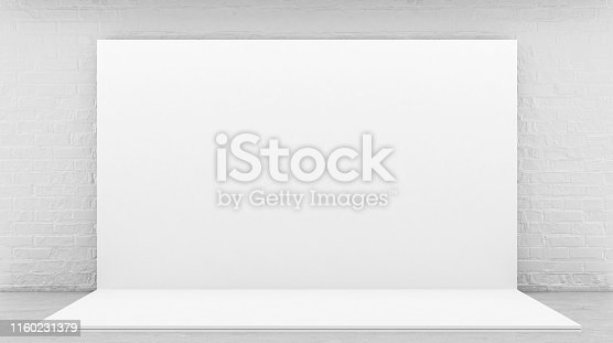 1089180420istockphoto White Backdrop Stage in Room 1160231379