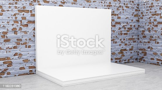 1089180420istockphoto White Backdrop Stage in Room 1160231380