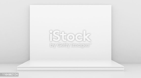 1089180420istockphoto White Backdrop Stage in Room 1164962124