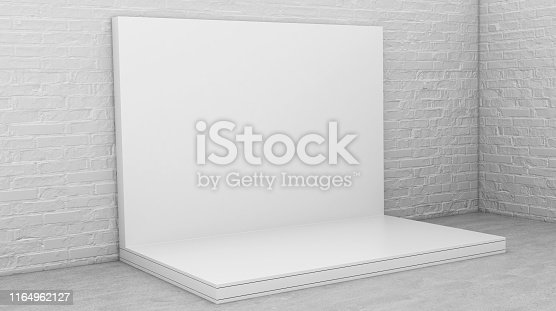 1089180420istockphoto White Backdrop Stage in Room 1164962127