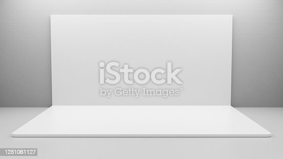 1089180420 istock photo White Backdrop Stage in Room 1251061127
