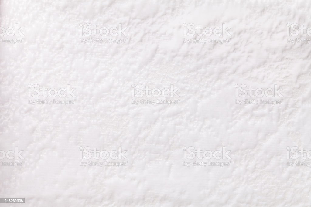 White background from a soft upholstery textile material, closeup. stock photo