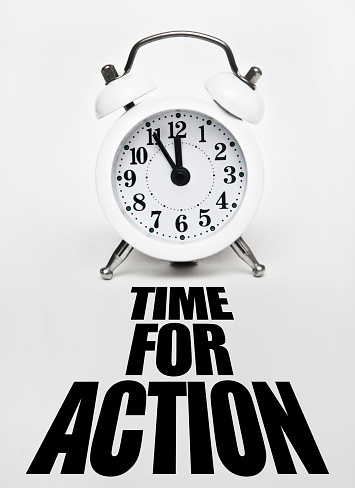 TIME FOR ACTION / White background (Click for more)