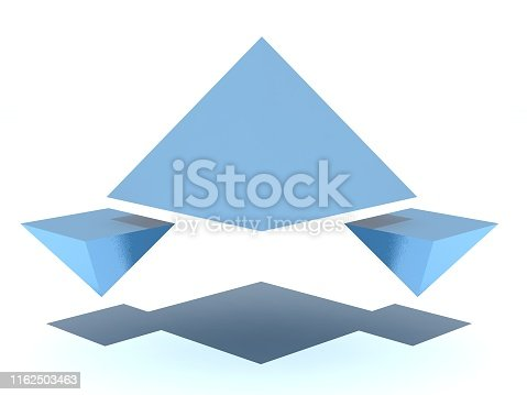 Abstract white background stock photo triangle, prism, pyramid stock photos