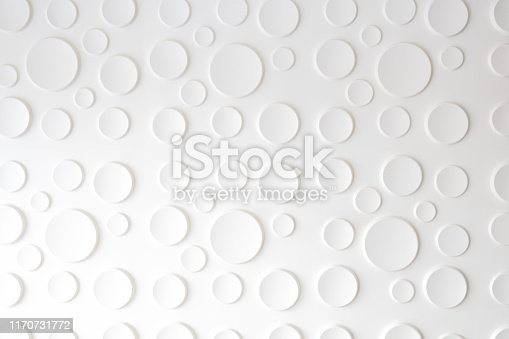 istock White background with a circular pattern 1170731772
