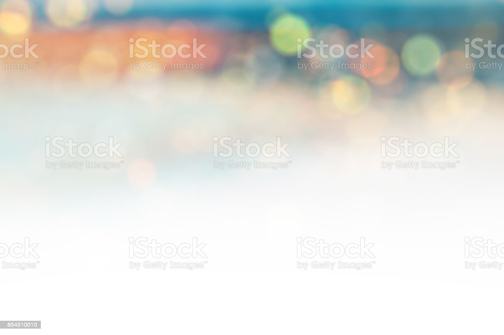 White background with defocused lights stock photo