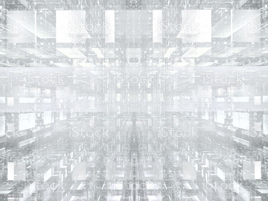 White background with grid in tech style - abstract...