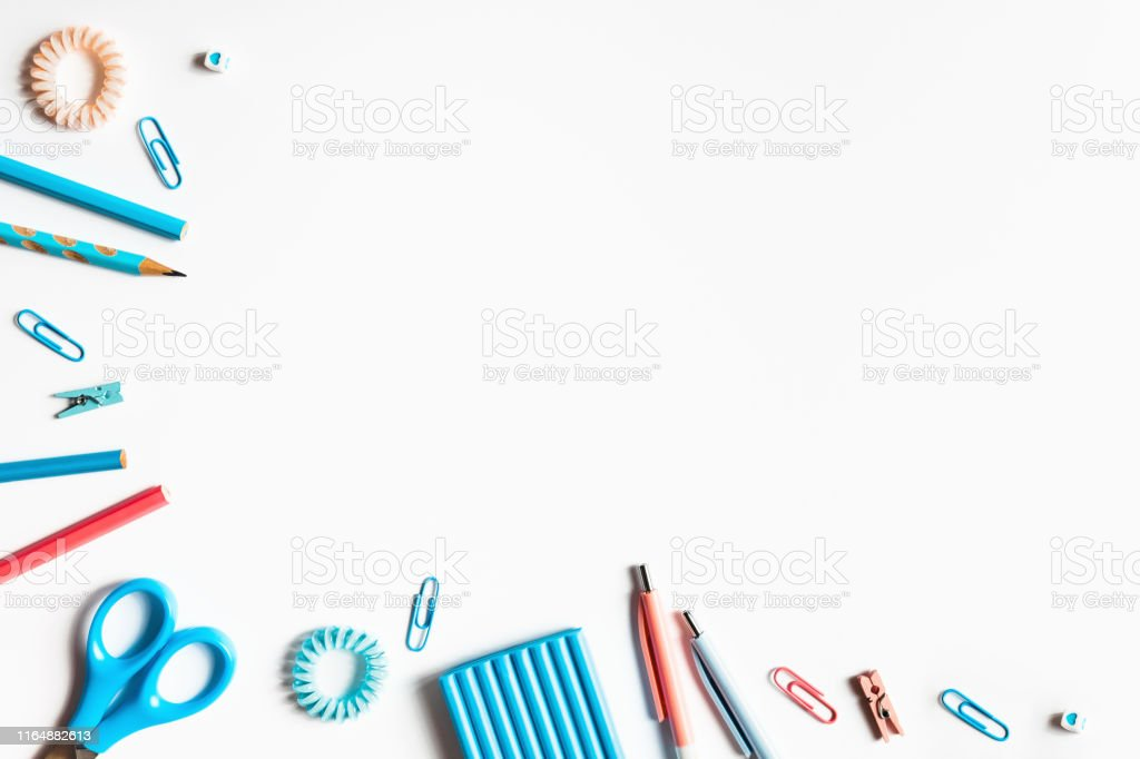 https www istockphoto com photo white background with pens and pencils for school advertising gm1164882613 320326725