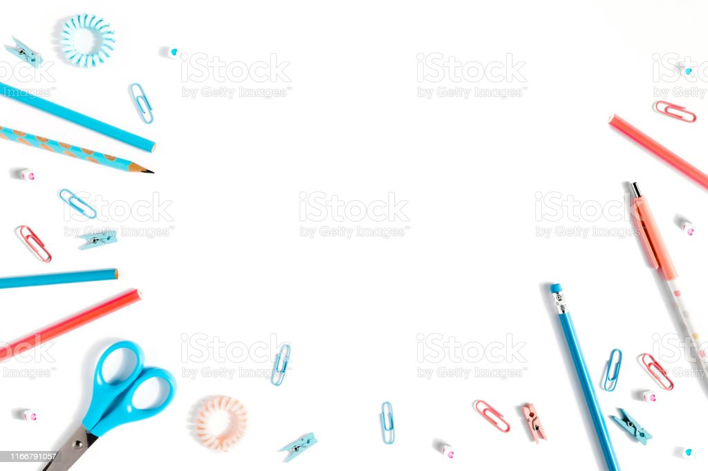 https www istockphoto com photo white background with pens and pencils for school advertising gm1166791057 321541122