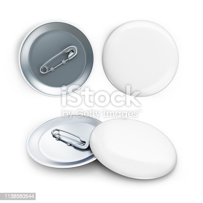 1094574474 istock photo white badge 3d Illustrations on a white background 1138580544