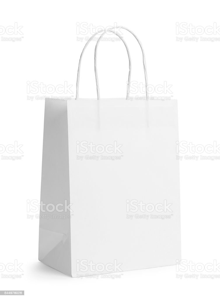 White Bag stock photo