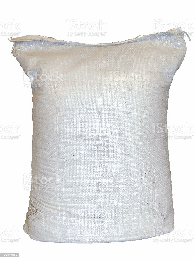 White Bag (sack) royalty-free stock photo