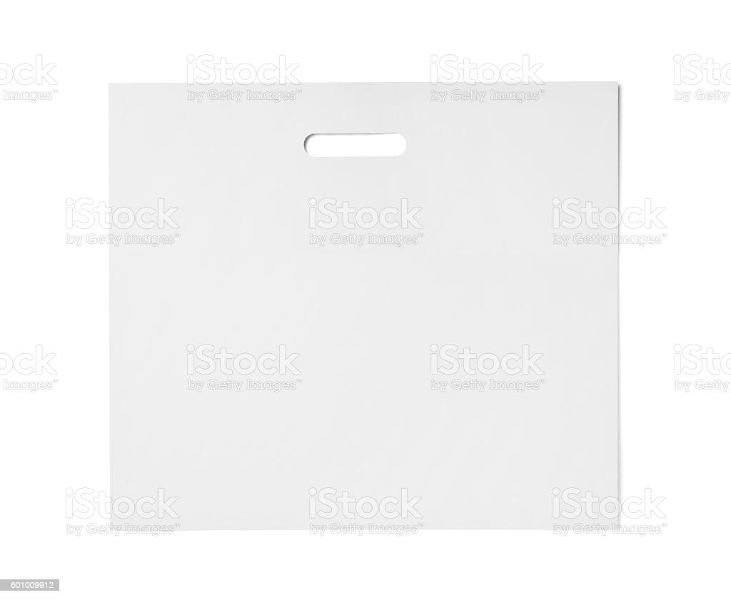 white bag template plastic paper shopping からっぽのストックフォト