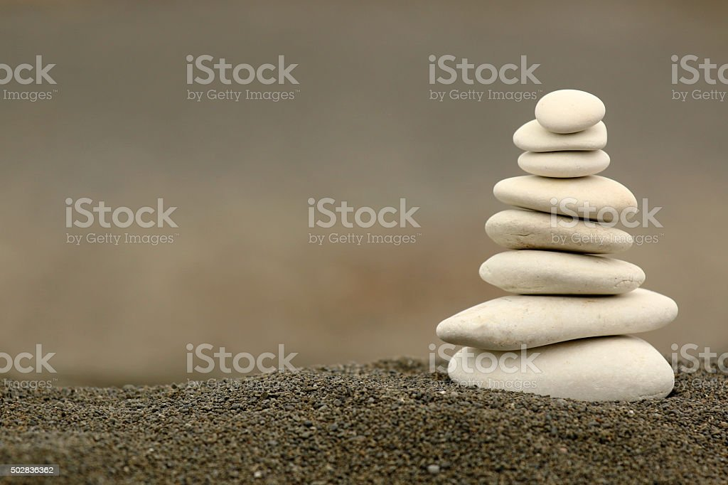 White balance zen stones stock photo