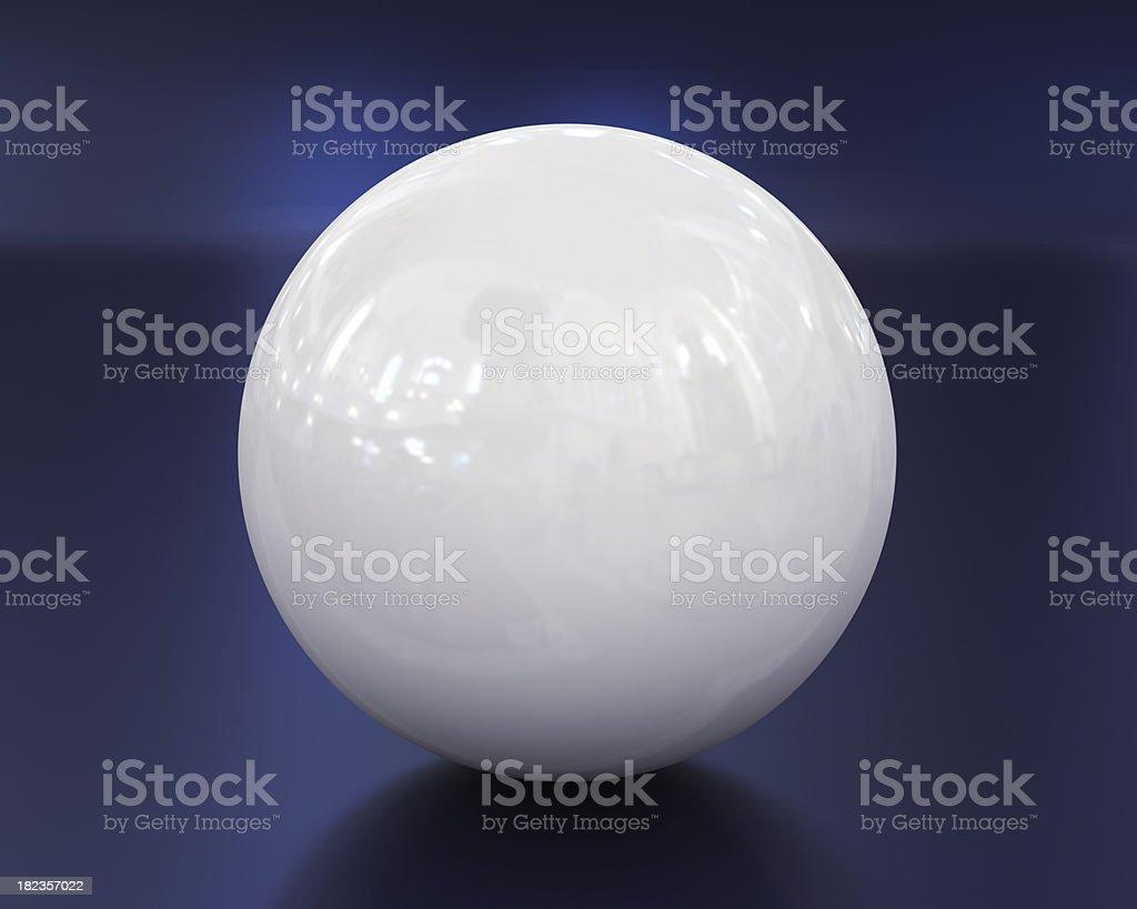 White ball on blue royalty-free stock photo