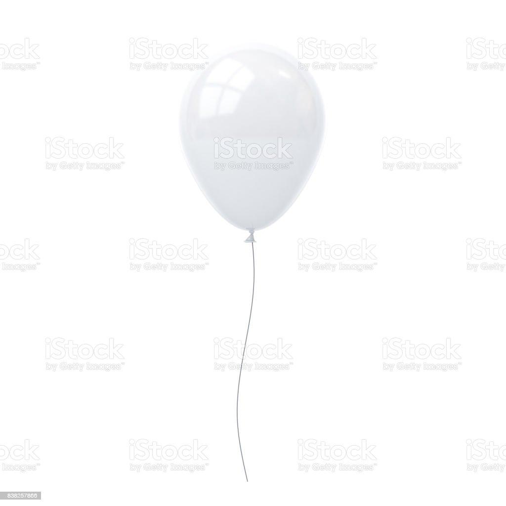 Weiße Ballon isoliert auf weißem Hintergrund mit Fenster Reflexion. 3D-Rendering – Foto