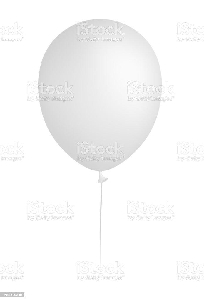 White balloon, isolated stock photo