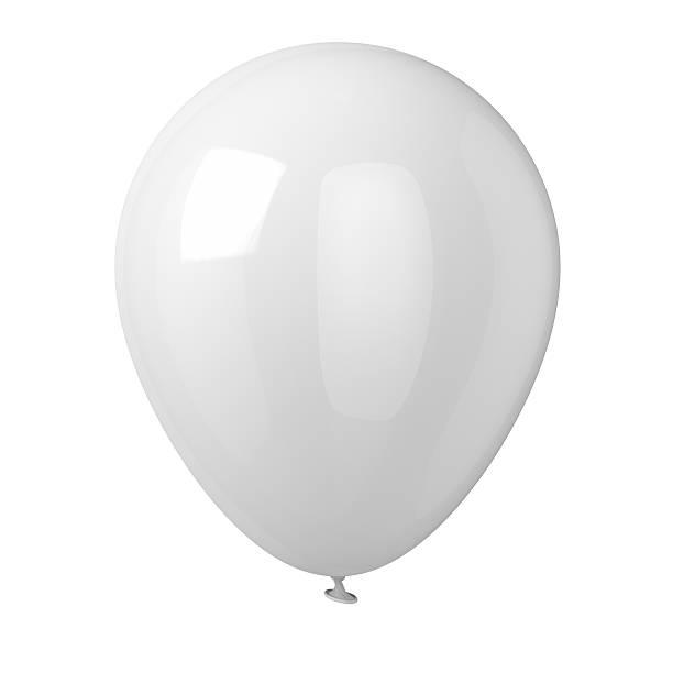 White Balloon stock photo