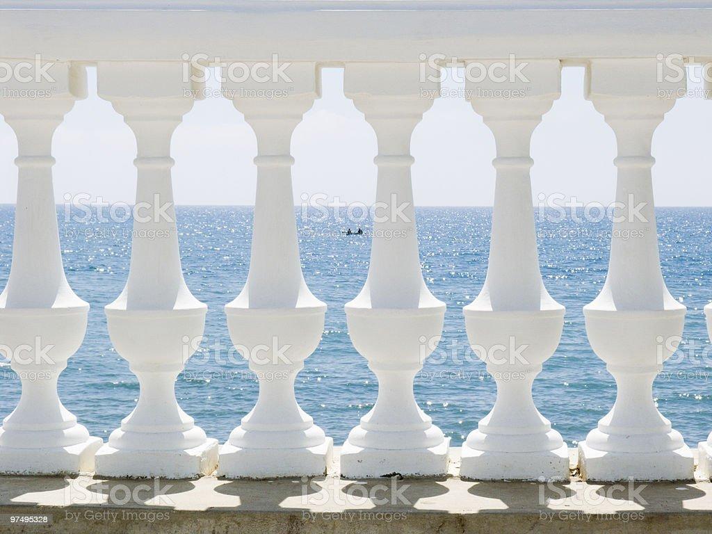 White balustrade royalty-free stock photo
