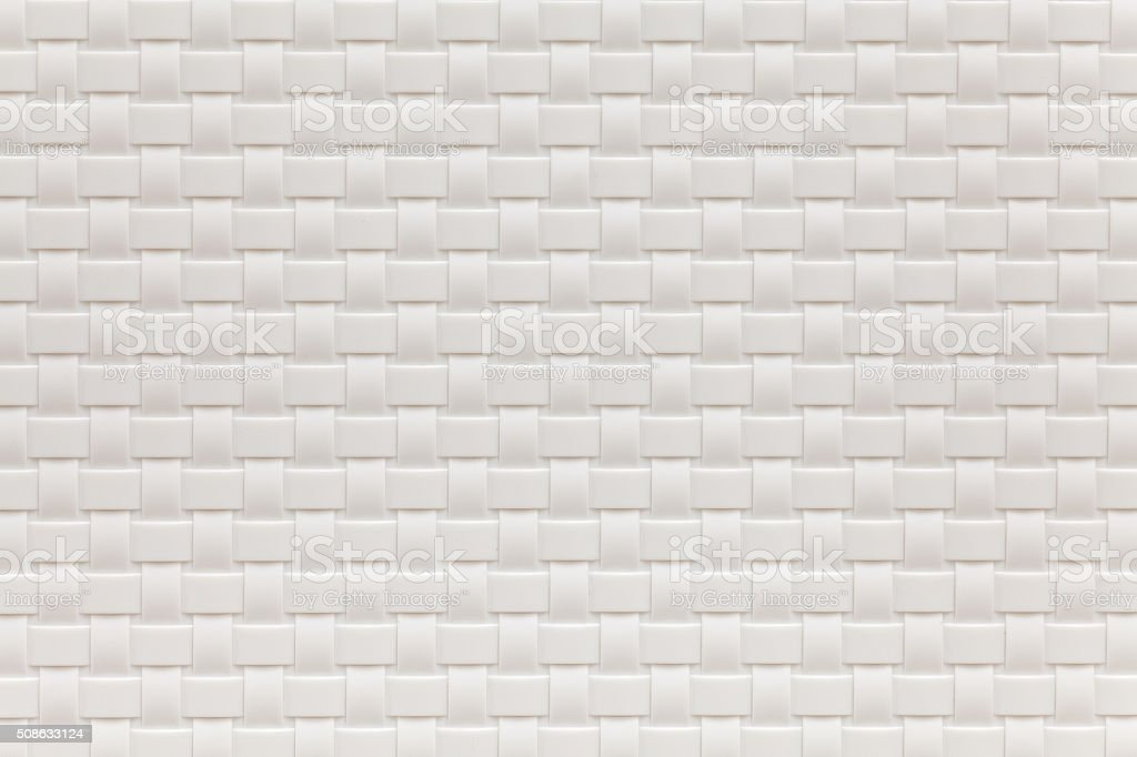 White bamboo weaving pattern texture and background seamless stock photo