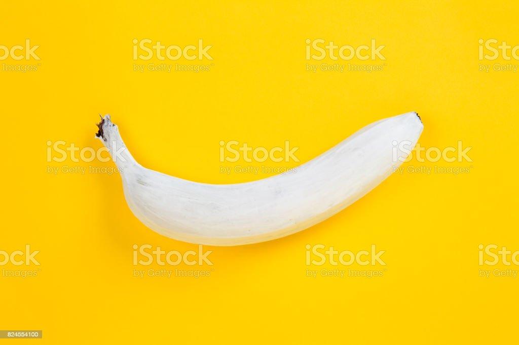white banana stock photo